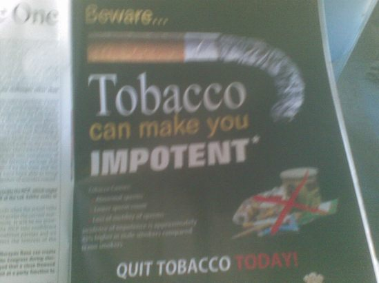 Tobacco can put you off