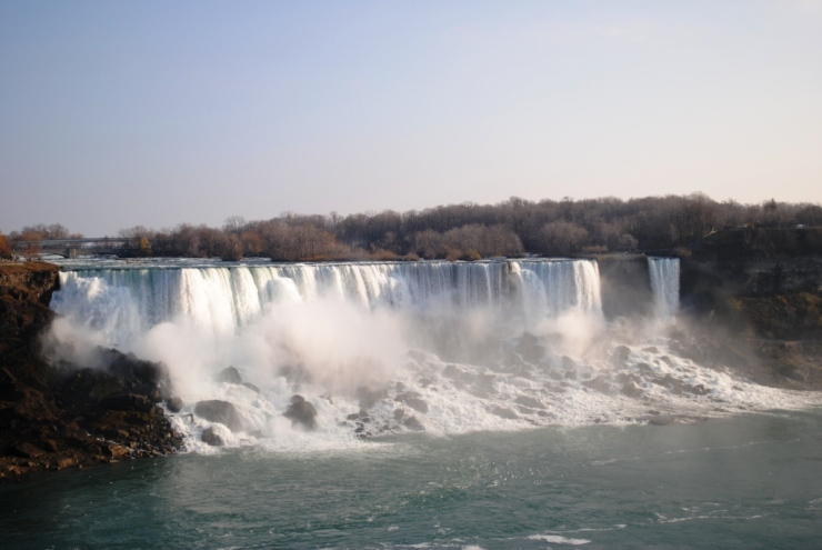 American Falls and the Bridal Veil falls