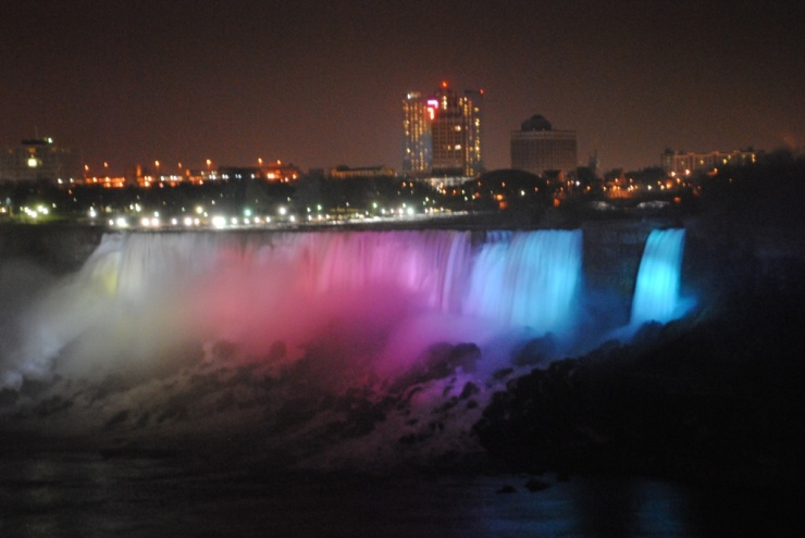 American falls and Bridal Veil falls - Night view