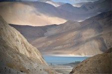 First view of the Pangong tso