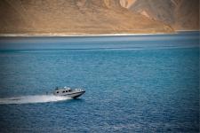 Army patrolling the Pangong Lake