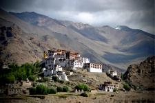 Likir Gompa [ Likir Monastery ] at a distance