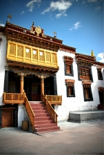 Courtyard inside the  Likir Monastery