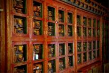 Scriptures inside the Likir Temple