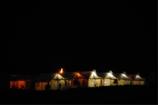 Tents during the night