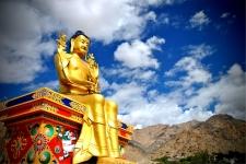 23 metre (75 ft) high gilded gold statue of Maitreya (the future) Buddha