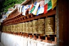 Prayer Wheels at the Alchi Monastery