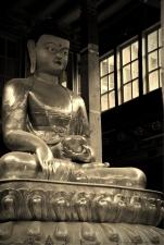 Buddha inside the Hemis Monastery