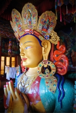 Maitreya Buddha at Thikse