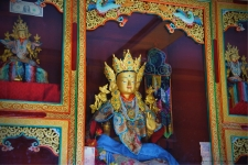 Inside the Tara temple, Thikse