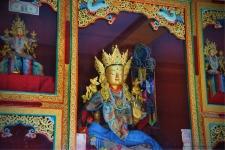 Inside the Tara temple, Thikse