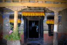 Old temple inside the monastery complex at Thikse