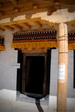 Entrance to the old library, Thikse