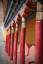 Pillars in the Thikse Courtyard