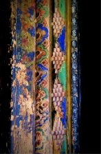 Ornate carvings on the door sil
