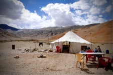 Tented dhaba at the start of More plains