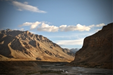 Enroute to our camp at Sarchu, Himachal Pradesh